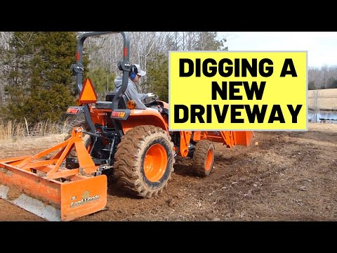 Installing a New Driveway With a Compact Kubota L3901 Tractor